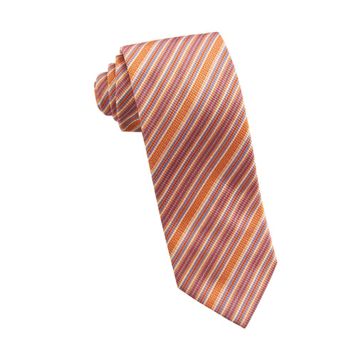 Orange stripe tie - 1190836 Swatch