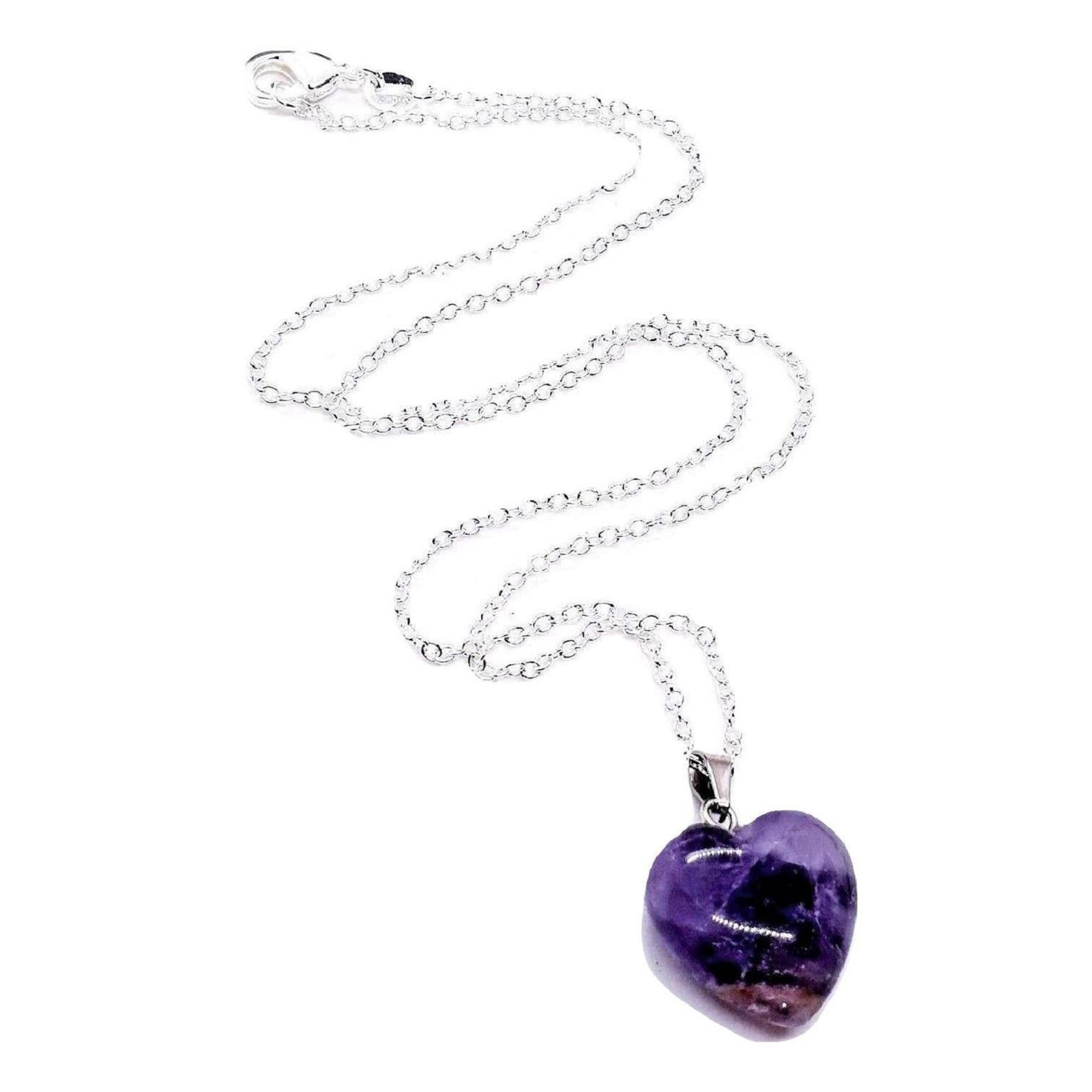 Amethyst Heart Necklace - Our Chakras