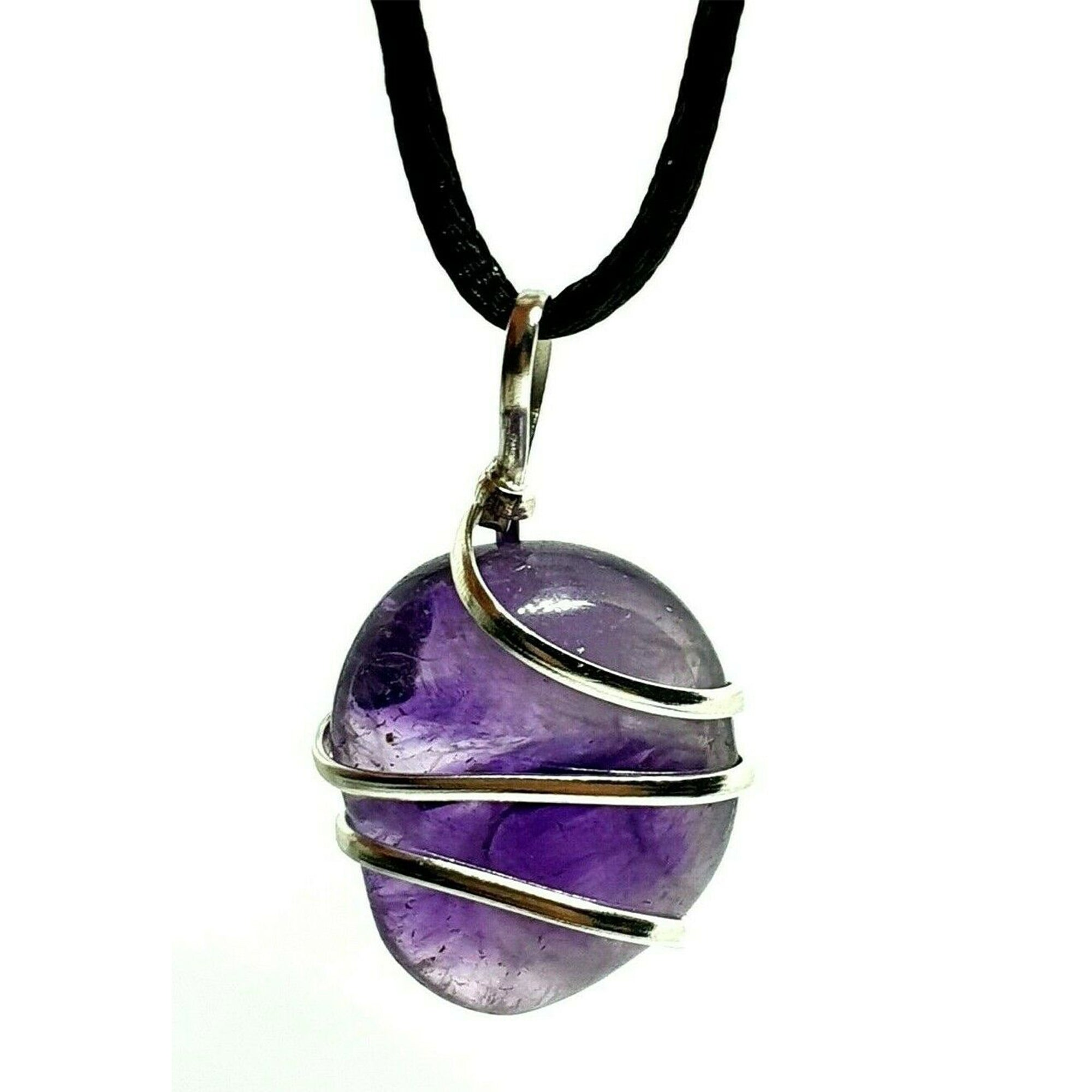 Amethyst Wire Wrapped Necklace - Our Chakras