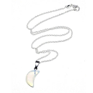 Opalite Moon Gemstone Necklace - Our Chakras