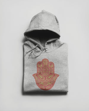 Red Hamsa Hand Hoodie - Our Chakras