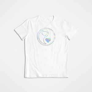 Holographic Yin & Yang Hearts T-Shirt - Our Chakras