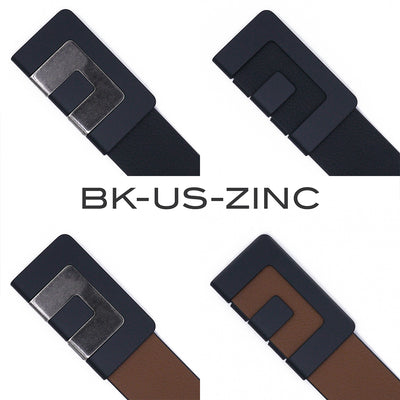 MIN BELT - BLACK BUCKLE, TWO COLOR STRAP with MIN SNAP
