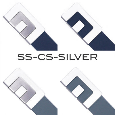 MIN BELT - SILVER BUCKLE with MIN SNAP