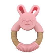 Load image into Gallery viewer, Bunny | Silicone and Beech Teether