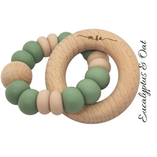 Load image into Gallery viewer, Eucalyptus & Oat Teething Ring - mummyandaustinboutique