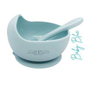Silicone Bowl with free matching spoon!! - mummyandaustinboutique