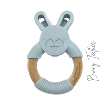 Load image into Gallery viewer, Bunny | Silicone and Beech Teether - mummyandaustinboutique