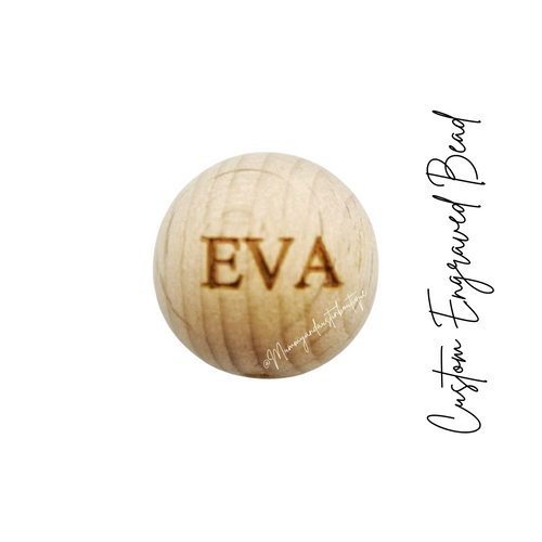 Wholesale |  Personalised wooden engraved ball 20mm - mummyandaustinboutique