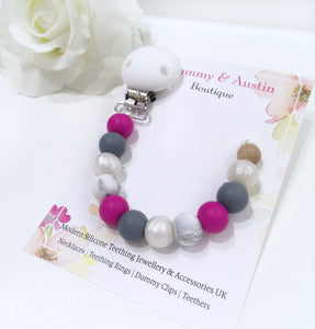Fuschia Collection | Dummy Clip - mummyandaustinboutique