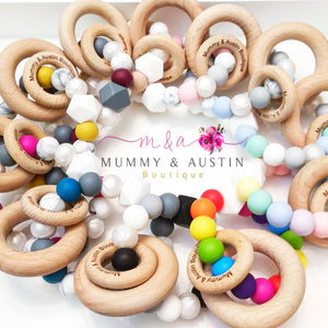 Rainbow Teething Ring - mummyandaustinboutique