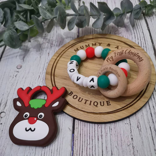 Reindeer Teether - mummyandaustinboutique