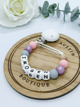 Load image into Gallery viewer, Personalised | Silicone Letters | Dummy Clip - mummyandaustinboutique