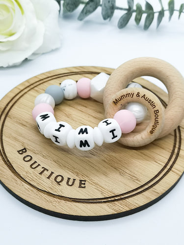 Personalised | Customise your own teething ring - mummyandaustinboutique