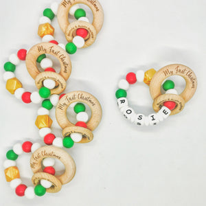 Christmas Teething Ring - mummyandaustinboutique