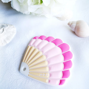 Pink Seashell Teether - mummyandaustinboutique