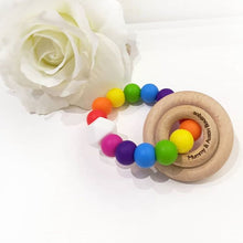 Load image into Gallery viewer, Rainbow Teething Ring - mummyandaustinboutique