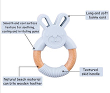 Load image into Gallery viewer, Fox | Silicone and Beech Teether - mummyandaustinboutique