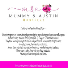 Load image into Gallery viewer, Personalised | Customise your own teething ring - mummyandaustinboutique