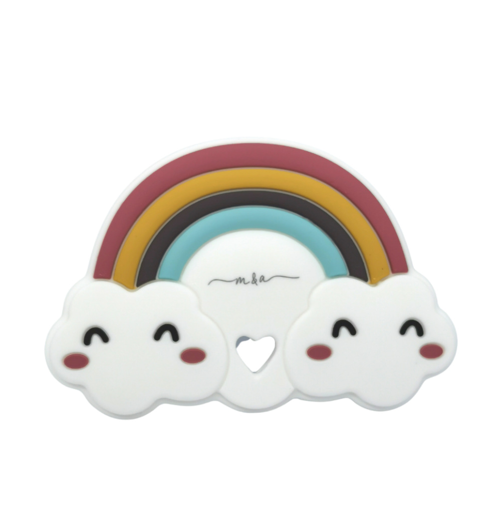 M&A Rainbow Teether - mummyandaustinboutique
