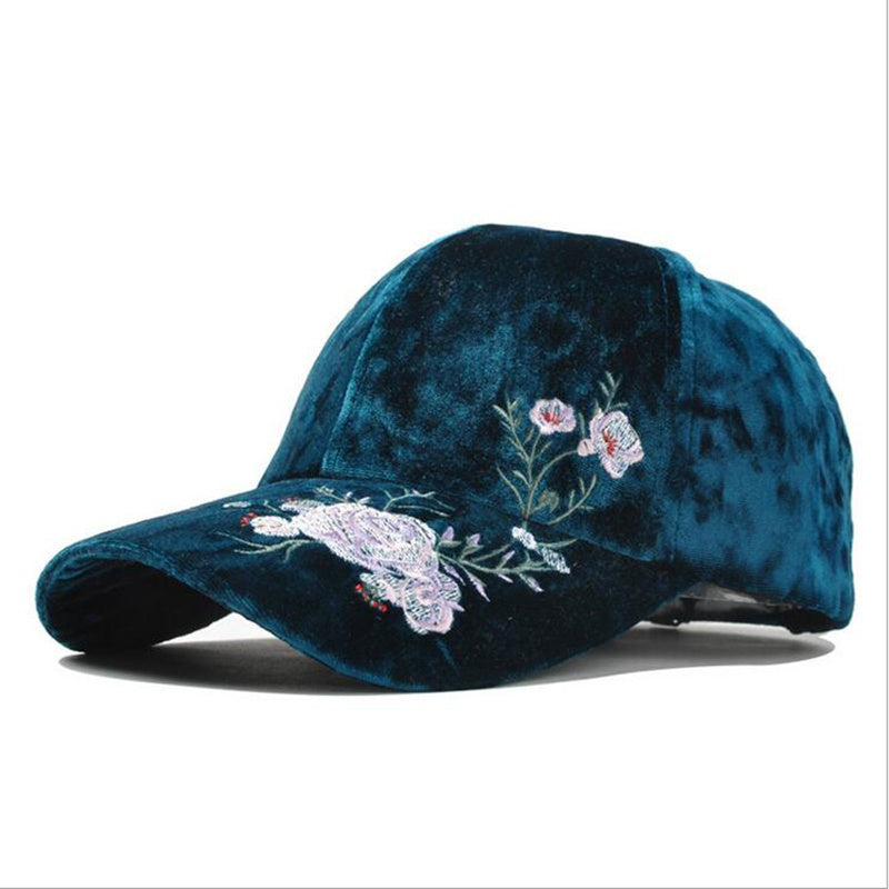 Velvet Embroidery Baseball Cap By Lux