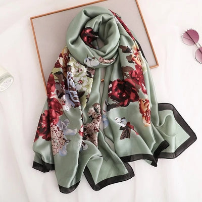 The Lux Silk Beach Scarf