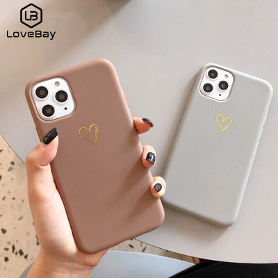 The Lux Gold Love Heart Case