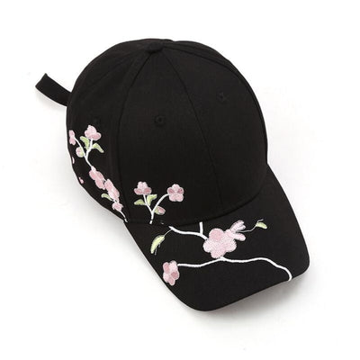 Symmetrical Flower Embroidery Baseball Cap By Lux