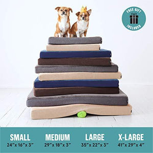 BarkBox Memory Foam Platform Dog Bed | Plush Mattress for Orthopedic Joint Relief