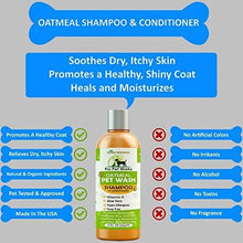 Load image into Gallery viewer, All Natural Organic Oatmeal Pet Shampoo + Conditioner - Hypoallergenic for Sensitive Skin 17oz