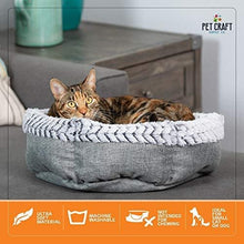 Load image into Gallery viewer, Soho Round Memory Foam Comfortable Ultra Soft Self Warming Cat & Dog Bed