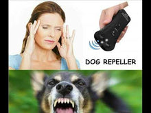 Load and play video in Gallery viewer, Ultrasonic Dog Anti Barking Trainer - Multifunction with High Power LED Flashlight