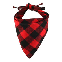 Load image into Gallery viewer, Fashion Cotton Dog Plaids Triangular Bandanna/Scarf or Bib