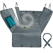 Load image into Gallery viewer, Mesh, Waterproof Pet Rear Seat Cover & Carrier. Hammock style cover comes with Zipper & Pockets