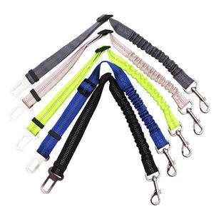 Adjustable Pet Seat Belt Connected Lead with Elastic Reflective Leash