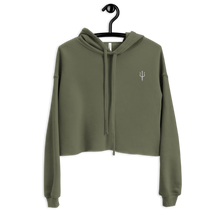 Load image into Gallery viewer, Women's oversized cropped hoodie - Marine green