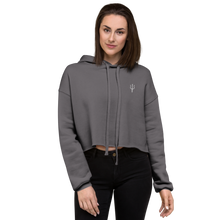 Load image into Gallery viewer, Women's oversized cropped hoodie - storm