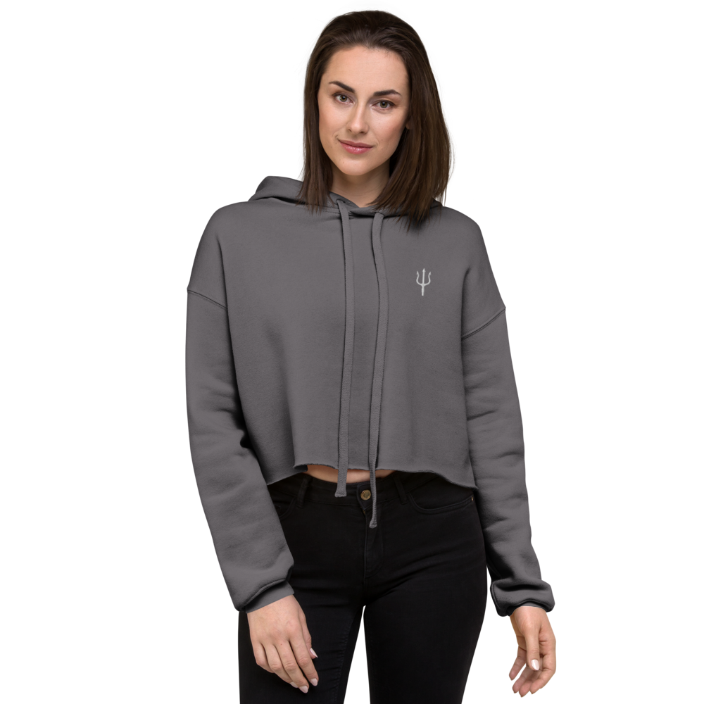 Women's oversized cropped hoodie - storm