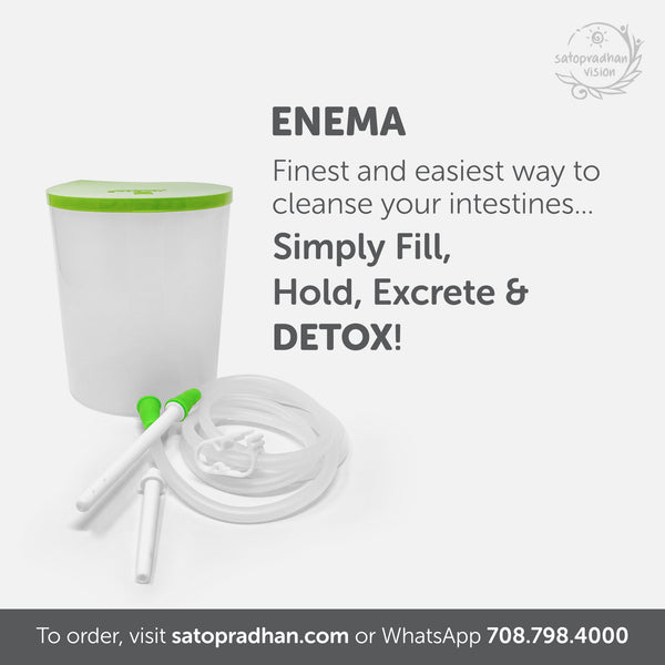 PVC Enema Pot with Two Nozzles - Satopradhan