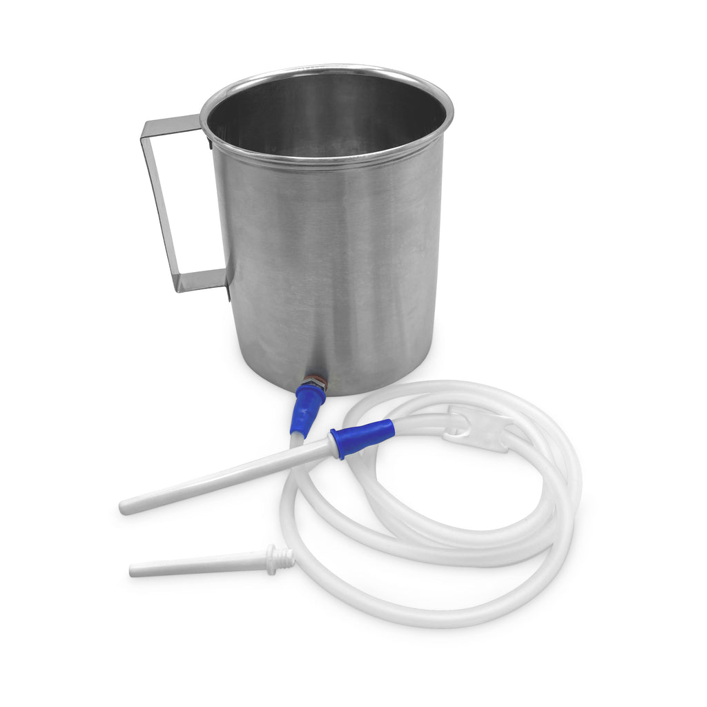 Steel Enema Pot with Two Nozzles - Satopradhan