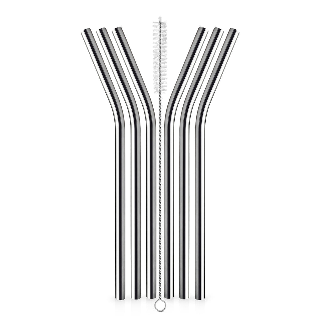 Reusable Stainless Steel Straws - Set of 6 - Satopradhan