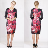 Teaberry Floral Bloom Print Dress