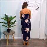 Bel Air Bold Floral Print Dress Navy