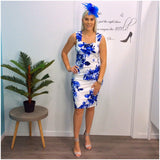Teaberry Indigo Floral Print Dress