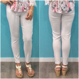 Quelque Full Length Stretch Pants White