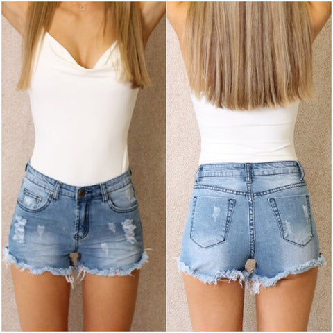 San Diego Denim Shorts Blue