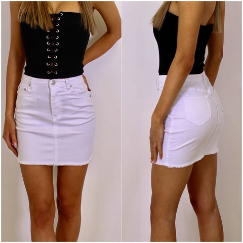 Cali Skirt White