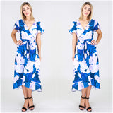 Third Love Floral Print Wrap Look Dress