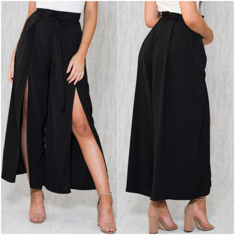 High Street Palazzo Pants Black