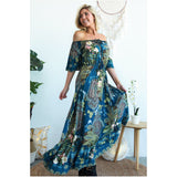 Melody Floral Paisley Print Maxi Dress